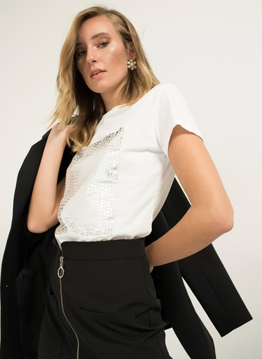 Varak Baskılı Tişört-People By Fabrika